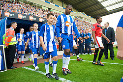WIGAN, ENGLAND - Saturday, August 22, 2009: Wigan Athletic's Titus Bramble during the Premiership match at the DW Stadium. (Photo by David Rawcliffe/Propaganda)