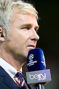 BEINSPORT presenter Darren Tulett before the Champions League group match between Montpellier and Arsenal at the Stade la Mosson, Montpellier, France, 18th September 2012. Eoin Mundow/Cleva Media