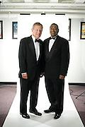 Senator George V. Voinovich and President McDavies at the Alumni Awards