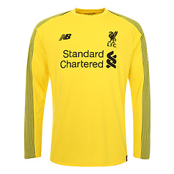 LIVERPOOL, ENGLAND - Thursday, April 19, 2018: A hand-out image from Liverpool Football Club of their new 2018-19 season goalkeper kit. (Pic by Pool/Liverpool Football Club via Propaganda)
