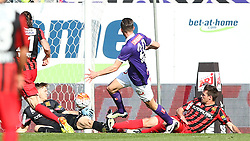 07.05.2016, Generali Arena, Wien, AUT, 1. FBL, FK Austria Wien vs FC Admira Wacker Moedling, 34. Runde, im Bild Tor fuer die Austria durch Alexander Gorgon (FK Austria Wien), Joerg Siebenhandl (FC Admira Wacker Moedling) geschlagen // during Austrian Football Bundesliga Match, 34th Round, between FK Austria Vienna and FC Admira Wacker Moedling at the Generali Arena, Vienna, Austria on 2016/05/07. EXPA Pictures © 2016, PhotoCredit: EXPA/ Thomas Haumer
