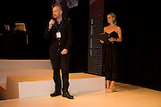 STEPHEN MONGAN; LAURA BAILEY, FashionExpo, fashion show and Awards. Business Design Centre, Upper st. London. 19 November 2008.  *** Local Caption *** -DO NOT ARCHIVE -Copyright Photograph by Dafydd Jones. 248 Clapham Rd. London SW9 0PZ. Tel 0207 820 0771. www.dafjones.com