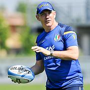 Calvisano 24/05/2018 <br /> Allenamento nazionale italiana di rugby<br /> Conor O&rsquo;Shea