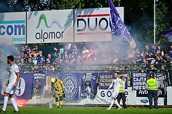 Fans of NK Maribor during football match between NS Mura and NK Maribor in 10th Round of Prva liga Telekom Slovenije 2018/19, on September 30, 2018 in Mestni stadion Fazanerija, Murska Sobota, Slovenia. Photo by Mario Horvat / Sportida