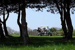 NORMANDY, FRANCE - MAY-01-2007 - Omaha Beach Golf Club - Course: La Mer (The Sea) - Hole 1 - 564 yards - Par 5. (Photo © Jock Fistick)