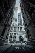 OLD MONEY IN THE NEW WORLD: The facade of the 120 Broadway Street building as seen from Thames Street.