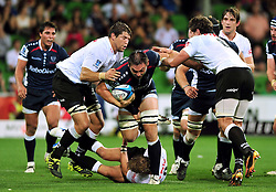 Gareth Delve (Rebels).Melbourne Rebels v The Sharks.Rugby Union - 2011 Super Rugby.AAMI Park, Melbourne VIC Australia.Friday, 11 March 2011.© Sport the library / Jeff Crow