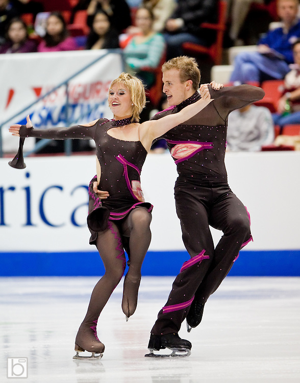 Nov 15, 2009: Zoe Blanc and Pierre-Loup Bouquet of France skate in the Ice Dance Free Dance at Skate America 2009 at the Herb Brooks Arena in Lake Placid, N.Y. (ORDA Photo /Todd Bissonette)