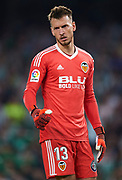 SEVILLE, SPAIN - OCTOBER 15:  Norberto Murara Neto of Valencia CF looks on  during the La Liga match between Real Betis and Valencia at Estadio Benito Villamarin on October 15 in Seville.  (Photo by Aitor Alcalde Colomer/Getty Images)
