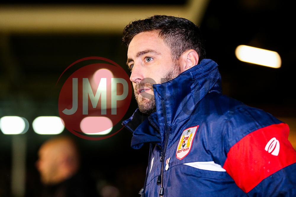 Bristol City Head Coach Lee Johnson looks on - Rogan/JMP - 31/10/2017 - Craven Cottage - London, England - Fulham FC v Bristol City - Sky Bet Championship.