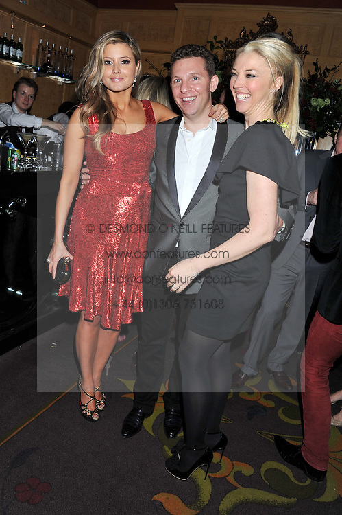 Left to right, HOLLY VALANCE, NICK CANDY and TAMARA BECKWITH at the 39th birthday party for Nick Candy in association with Ciroc Vodka held at 5 Cavindish Square, London on 21st Januatu 2012.