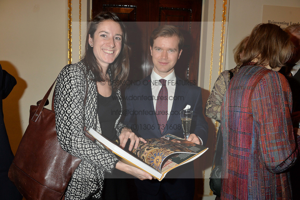 LONDON, ENGLAND 28 NOVEMBER 2016: Amicie Baroness de Villenfagne, Daniel Costelloe at a reception to celebrate the publication of The Sovereign Artist by Christopher Le Brun and Wolf Burchard held at the Royal Academy of Art, Piccadilly, London, England. 28 November 2016.