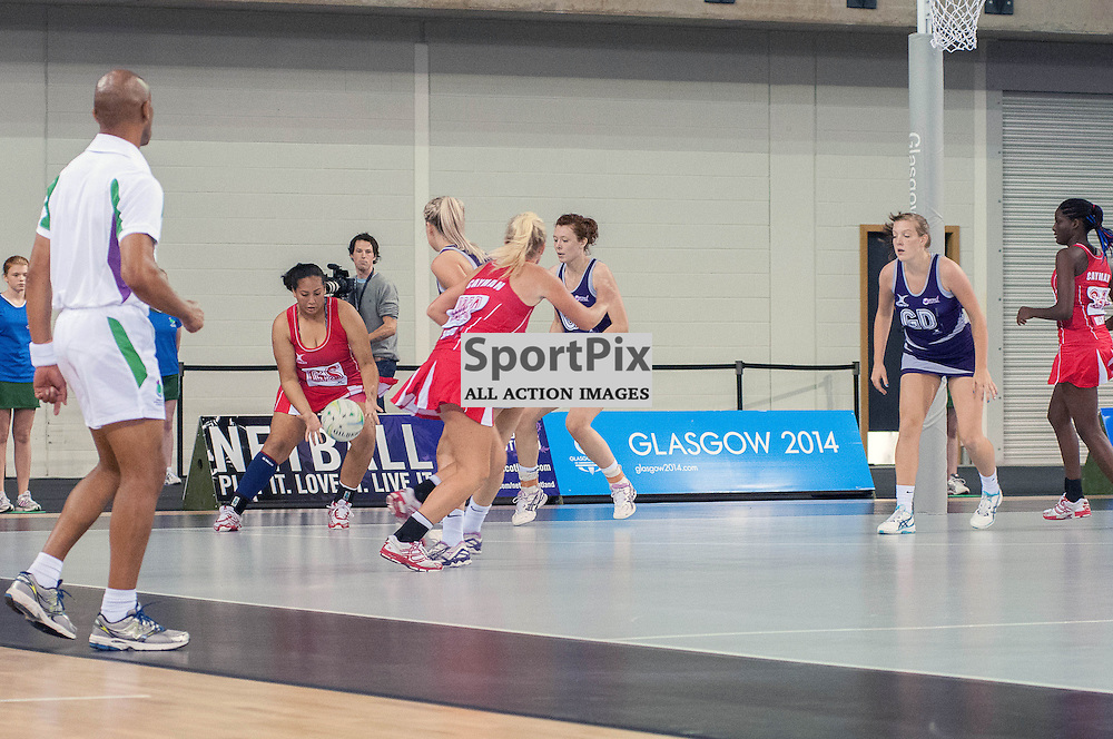 Action from the first match in the World Youth Netball Championships, between hosts, Scotland and the Cayman Islands. (c) Wullie Marr / Sportpix.org.uk
