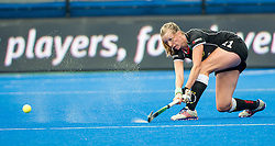 Germany's Franzisca Hauke. Germany v Spain - 3rd/4th Playoff Unibet EuroHockey Championships, Lee Valley Hockey & Tennis Centre, London, UK on 30 August 2015. Photo: Simon Parker