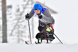 GAO Yixiang, CHN, LW12 at the 2018 ParaNordic World Cup Vuokatti in Finland