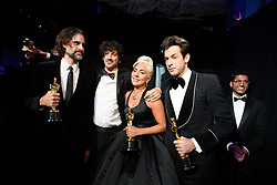 After winning the Oscar® for music written for motion pictures (original song), Andrew Wyatt, Anthony Rossomando, Lady Gaga, and Mark Ronson pose backstage during the live ABC Telecast of The 91st Oscars® at the Dolby® Theatre in Hollywood, CA on Sunday, February 24, 2019.
