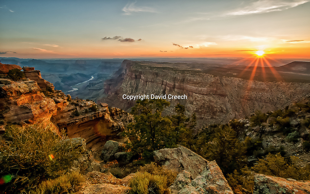 Sunrise from Desert View in Grand Canyon National Park