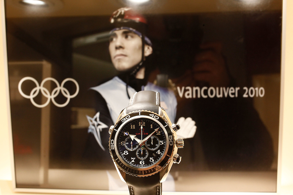 NEW YORK - MARCH 04:  Atmosphere at the Omega Flagship Boutique during the Olympic Medalist and OMEGA Ambassador Apolo Anton Ohno visits the Omega Flagship Boutique on March 4, 2010 in New York City.  (Photo by Joe Kohen/Getty Images for OMEGA)