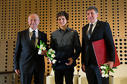 Janez Ivan Hafner, Domen Skofic and Gabriel Gros  at 52th Annual Awards of Stanko Bloudek for sports achievements in Slovenia in year 2016 on February 14, 2017 in Brdo Congress Center, Brdo, Ljubljana, Slovenia.  Photo by Martin Metelko / Sportida