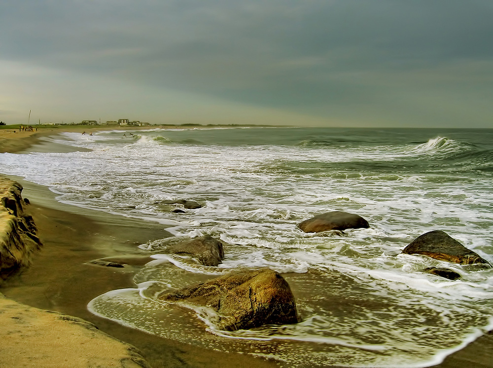 Great fishing spot on East Beach. Charlestown and Misquamecut, Rhode Island.