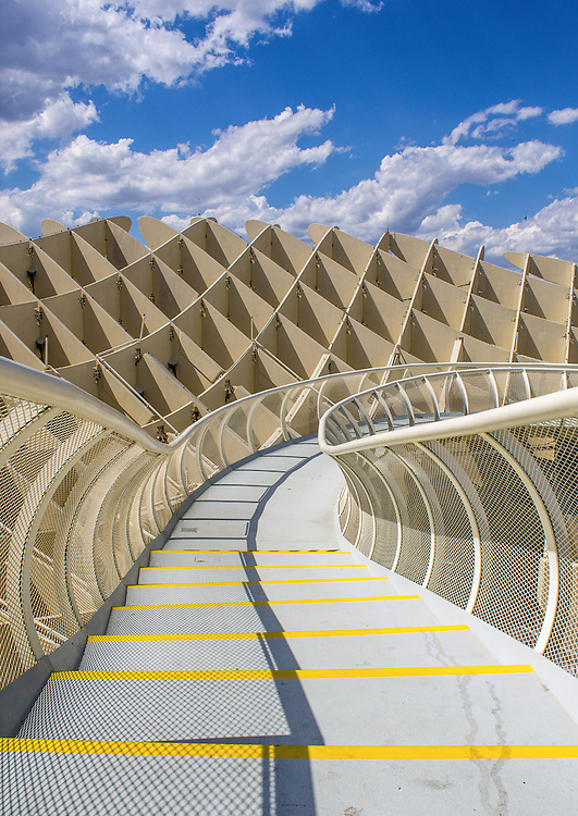 SEVILLE, SPAIN - MAY 2014: Texture graphic detail of Metropol Parasol in Plaza de la Encarnacion on 31 of May 2014 in Sevilla,Spain. A new Seville Market Hall and attractive destination. Projected by J. Mayer H. architects.