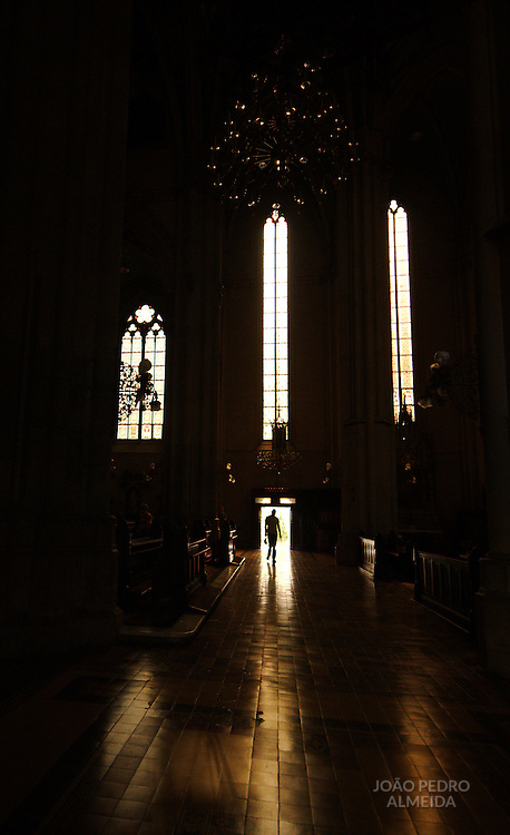 View of Zagreb's cathedral door from inside