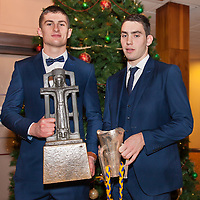 Conor Cleary from Kilmaley and Niall Deasy from Ballyea at the Clare U21 Hurling Final Winners Medal presentation in West county Hotel on Saturday 06 Dec