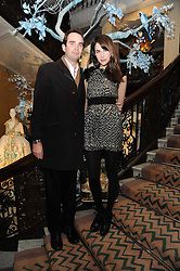 FRITZ VON WESTENHOLZ and CAROLINE SIEBER at the launch of the Claridge's Christmas Tree designed by John Galliano for Dior held at Claridge's, Brook Street, London on 1st December 2009.