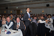 Applause from staff and fans as Cammy Kerr goes up to receive the  Andrew De Vries Trophy as Dundee's official player of the year for 2016/17 during the DSA player of the year dinner at Invercasrse Hotel, Dundee, Photo by David Young<br /> <br /> <br />  - &copy; David Young - www.davidyoungphoto.co.uk - email: davidyoungphoto@gmail.com