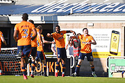 The Oldham Players  celebrate   their opening goal during the EFL Sky Bet League 1 match between Northampton Town and Oldham Athletic at Sixfields Stadium, Northampton, England on 5 May 2018. Picture by Dennis Goodwin.