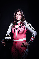 12.10.2019, Olympiahalle, Innsbruck, AUT, FIS Weltcup Ski Alpin, im Bild Katharina Huber // during Outfitting of the Ski Austria Winter Collection and the official Austrian Ski Federation 2019/ 2020 Portrait Session at the Olympiahalle in Innsbruck, Austria on 2019/10/12. EXPA Pictures © 2020, PhotoCredit: EXPA/ JFK