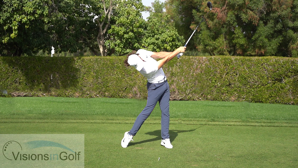 Tommy Fleetwood<br /> High Speed Swing Sequence face on driver<br /> January 2018<br /> <br /> Golf Pictures Credit:  Mark Newcombe / www.visionsingolf.com