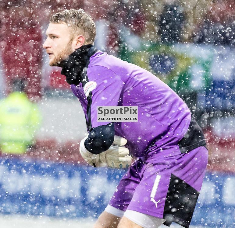 Dundee's 'keeper Scott Bain during the Partick Thistle FC V Dundee FC Scottish Premiership game, 16th January 2016; (c) BERNIE CLARK | SportPix.org.uk