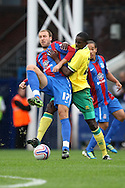 Picture by Paul Chesterton/Focus Images Ltd..26/7/11.Leon Barnett of Norwich City and Glenn Murray of Crystal Palace in action during a pre season friendly at Selhurst Park stadium, London