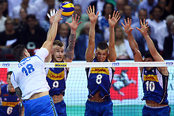 MURO A TRE ITALIA<br /> <br /> Italy vs Slovenia<br /> Volleyball men's world championship <br /> Florence September 18, 2018
