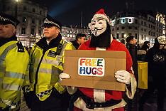 London: Million Mask March, 5 Nov. 2016