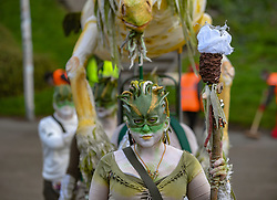 Pictured: participants prepare for the festival.<br /> <br /> The spectacular annual Beltane Fire Festival takes place on Calton Hill in Edinburgh to herald in the start of summer.<br /> <br /> © Dave Johnston / EEm