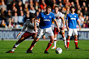 Dion Donohue (17) of Portsmouth during the EFL Sky Bet League 1 match between Portsmouth and Bradford City at Fratton Park, Portsmouth, England on 28 October 2017. Photo by Graham Hunt.
