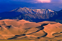 Great Dand Dunes National Park below the Sangre De Cristo Mountains, Colorado.