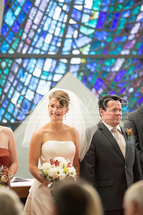 Matthew Julius Pinter And Tamsin Kate Cockayne. Christ Church Cathedral, Darwin, Northern Territory, Australia. 28/01/2012. Photo By Lucas Wroe