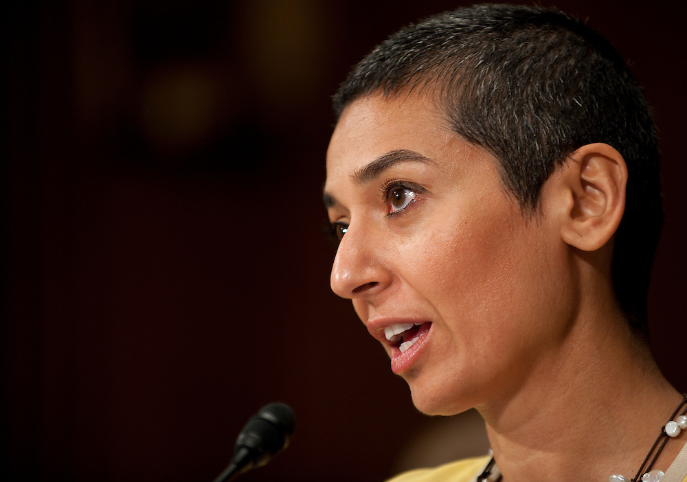 "Jul 27, 2010 - Washington, District of Columbia, U.S., -.ZAINAB SALBI, founder and CEO of Women for Women International, testifies before the Senate Foreign Relations Committee hearing on the ""Perspectives on Reconciliation Options in Afghanistan."" (Credit Image: © Pete Marovich/ZUMA Press)"