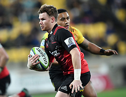 Crusaders Mitchell Drummond against the Hurricanes in Super Rugby match at Westpac Stadium, Wellington, New Zealand, Saturday, July 15, 2017. Credit:SNPA / Ross Setford  **NO ARCHIVING""