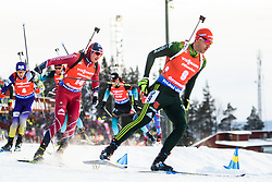 March 10, 2019 - –Stersund, Sweden - 190310 Andrejs Rastorgujevs of Latvia and Arnd Peiffer of Germany during the Men's 12,5 km Pursuit during the IBU World Championships Biathlon on March 10, 2019 in Östersund..Photo: Petter Arvidson / BILDBYRÃ…N / kod PA / 92255 (Credit Image: © Petter Arvidson/Bildbyran via ZUMA Press)