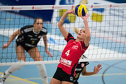 03-12-2014 GER: USC Muenster - SC Potsdam, Munster<br /> Halle Berg Fidel, Muenster Volleyball, DVV-Pokal Frauen, Viertelfinale / Zuspiel Tess von Piekartz (#4 Muenster)<br /> <br /> ***NETHERLANDS ONLY***
