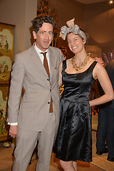 EDWARD HIRST and THEA GORMLEY at the private preview of Masterpiece 2015 held at the Royal Hospital Chelsea, London on 24th June 2015.