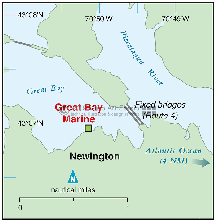 Vector map of Newington, New Hampshire marina