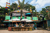 A beachside bar and restaurant near Kuta and Seminyak beaches in Bali, Indonesia.