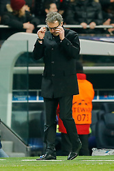 Paris Saint-Germain Manager Laurent Blanc looks frustrated after a shot goes close - Photo mandatory by-line: Rogan Thomson/JMP - 07966 386802 - 17/02/2015 - SPORT - FOOTBALL - Paris, France - Parc des Princes - Paris Saint-Germain v Chelsea - UEFA Champions League, Last 16, First Leg.