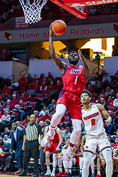 NORMAL, IL - December 18: Marcus Ottey gets past Zach Copeland during a college basketball game between the ISU Redbirds and the UIC Flames on December 18 2019 at Redbird Arena in Normal, IL. (Photo by Alan Look)