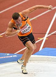 07-03-2015 CZE: European Athletics Indoor Championships, Prague<br /> Meerkamper Pieter Braun NED op het onderdeel kogelstoten